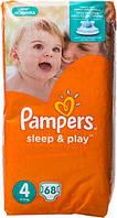 Подгузники Pampers Sleep & Play Maxi 4 для детей 7-14 кг 68шт