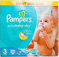 Подгузники Pampers Active Baby-Dry Midi 3 для детей 4-9 кг 126шт