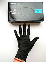 Перчатки нитриловые неопудренные, черные Nitrylex  , M. 100 шт.