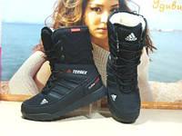 Ботинки женские Adidas climaproof черные 37 р.