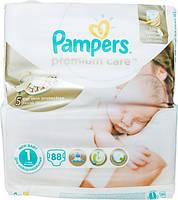 Подгузники Pampers Premium Care New Baby 1 для новорожденных 2-5 кг 88шт