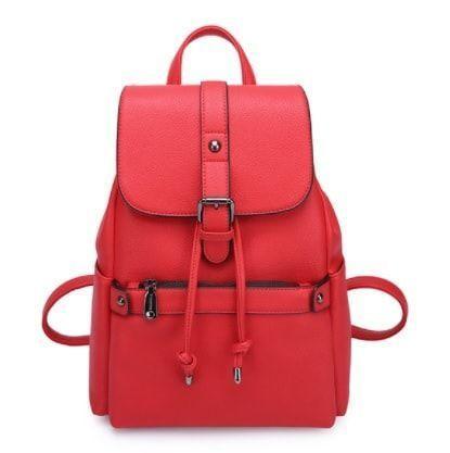 b778a4965a60 Кожаный рюкзак с карманами на затяжке. - Интернет-магазин рюкзаки и сумки  Авось Ка