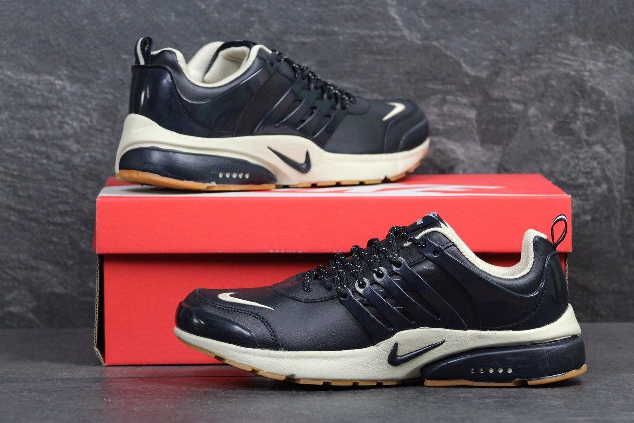 Кроссовки Nike Air presto темно синие с бежевым, 43р