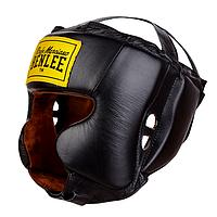 Кожаный боксерский шлем TYSON Черный L/XL