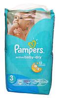 Подгузники Pampers Active Baby-Dry Midi 3 для детей 4-9 кг 58шт