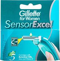 Сменные кассеты для бритья Gillette SensorExcel для женщин 5шт