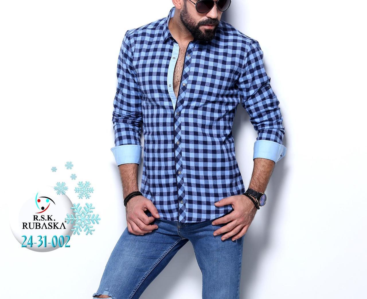 Мужская рубашка на байке в клетку хит сезона  продажа 28c8e7b870f58