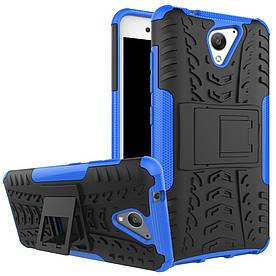 Чехол накладка для ZTE Blade A510 противоударный с подставкой, синий