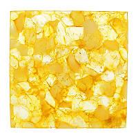 Плитка из янтаря ярко-желтая