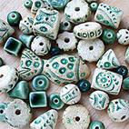 Бусины из керамики