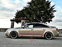 Накладки на двери молдинги листва Audi A6 С5 стиль S6