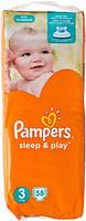 Подгузники Pampers Sleep & Play Midi 3 для детей 4-9 кг 58шт