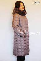 Женское зимнее пальто больших размеров Black & Red 26171