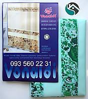 Шторка для ванной комнаты Vonaldi (Турция) 180х200 см 0185z зелёный