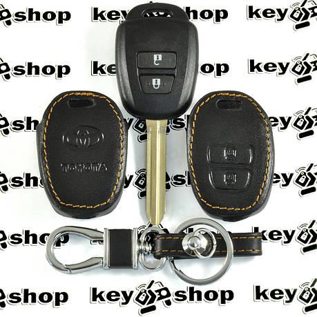 Чехол (кожаный) для авто ключа Toyota (Тойота) 2 кнопки, фото 2