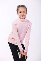 Гольф для девочки  косичка , розовый, фото 1