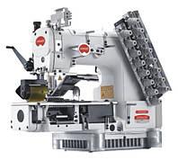 12-игольная машина, двохниточного цепочного стежка с гладким (или зубчатым) пулером BRUCE VC009VCDI-12064P