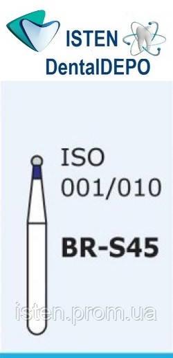 Боры BR-S45, синий шарообразный, короткая ножка, MANI (3 шт.)