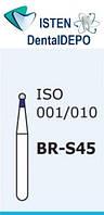 Боры BR-S45, синий шарообразный, короткая ножка, MANI (3 шт.), фото 1