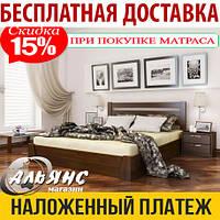 Кровать СЕЛЕНА Эстелла с подъемным механизмом, из натурального дерева, кровать из бука