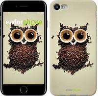 """Чехол на iPhone 8 Сова из кофе """"777c-1031-4848"""""""