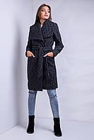 Модное молодежное пальто удлиненное с поясом