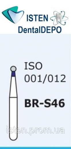 Боры BR-S46, синий шарообразный, короткая ножка, MANI (3 шт.)