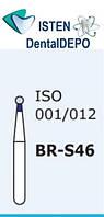 Боры BR-S46, синий шарообразный, короткая ножка, MANI (3 шт.), фото 1