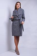 Шикарное кашемировое пальто под пояс  отложной воротник