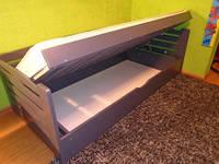 Кровать Карлсон с подъёмным механизмом из массива бука