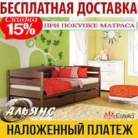 Деревянная кровать НОТА ПЛЮС Эстелла, из натурального дерева, кровать из бука
