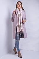 Удлиненное пальто прямого фасона на пуговицах