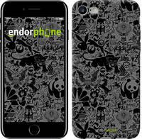 "Чехол на iPhone 8 Чёрно-серый стикер бомбинг ""2432c-1031-4848"""