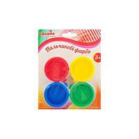 Пальчиковые краски 4 цвета по 30мл ТМ Идейка