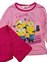 Трикотажные пижамы на девочек 3 4 6 8 лет