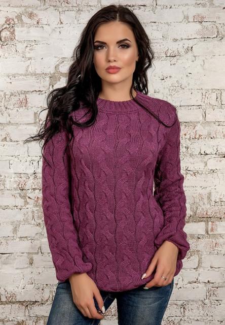 Модные вязаные кофты женские