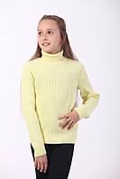 Гольф для дівчинки косичка , жовтий, фото 1