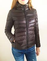Демисезонная женская куртка, наполнитель гусиный пух. Цвет коричневый, р. S.