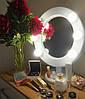 Зеркало гримерное настольное белое Star, фото 9