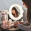 Зеркало гримерное настольное белое Star, фото 2