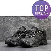 Мужские кроссовки Columbia, черного цвета / кроссовки мужские Коламбия, кожаные, стильные