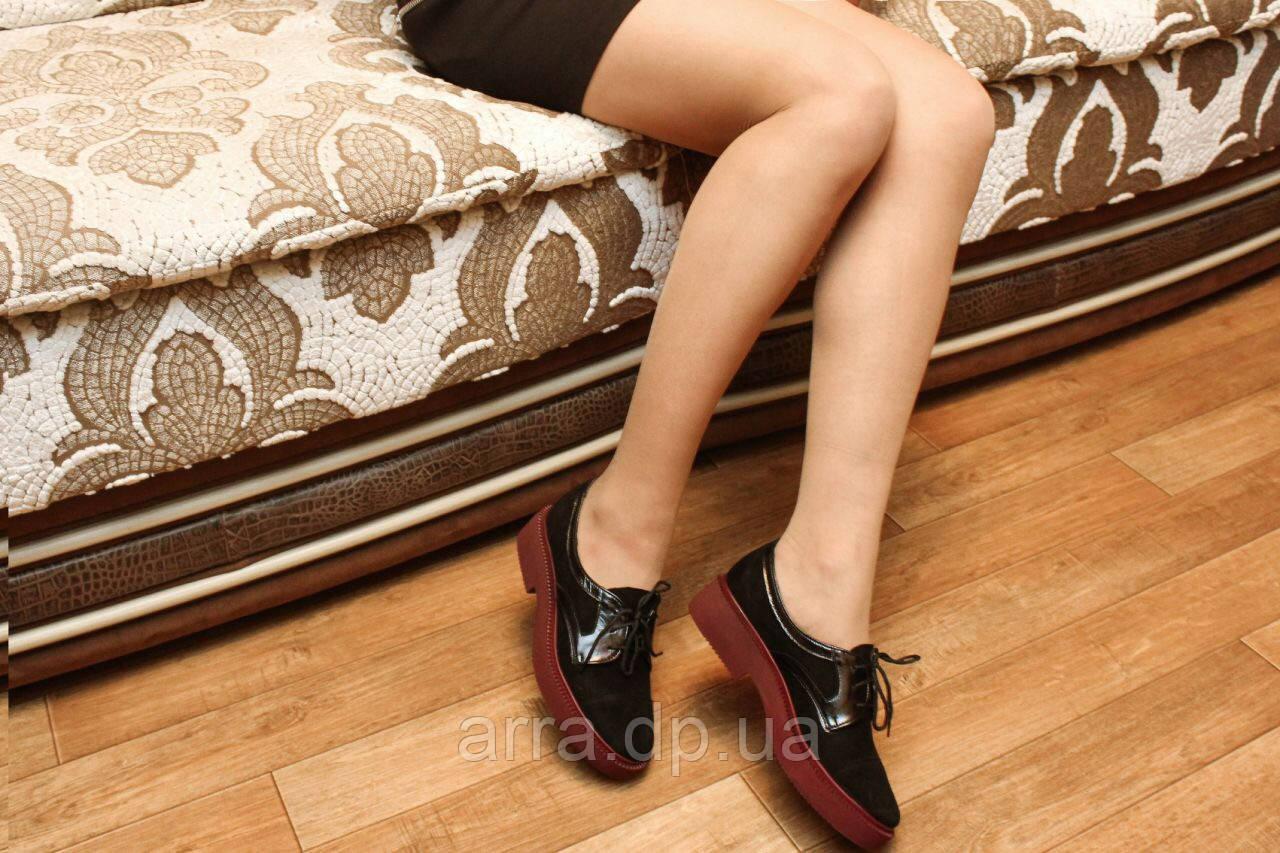 Туфли на бордовой подошве