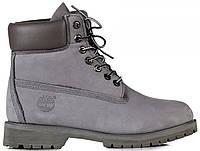 Мужские ботинки Timberland 6 inch Grey (Тимберленд) серые
