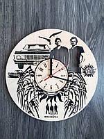 Дизайнерские деревянные часы «Сверхьестественное», фото 1