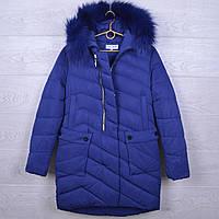 """Подростковое пальто зимние """"NOVA ClubI"""" #H36 для девочек. 10-14 лет. Темно-синие. Оптом."""