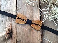 Деревянная бабочка галстук флоуресцентная ручной работы Модель №6