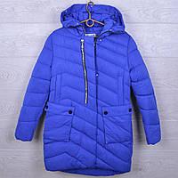 """Подростковое пальто зимние """"NOVA ClubI"""" #H36 для девочек. 10-14 лет. Электрик. Оптом."""
