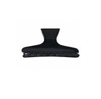 Зажим для волос Eurostil пластиковый черный - 12 шт в уп