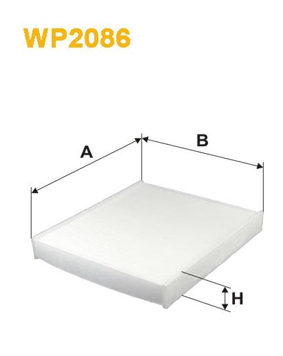 Фильтр салонный WIX WP2086 (K1313)