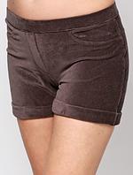 Женские вельветовые шорты HUE в мелкий рубчик, серые р. S-L